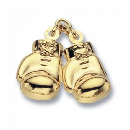 Yellow Gold Pendants -Boxing Glove Double Large, PN261
